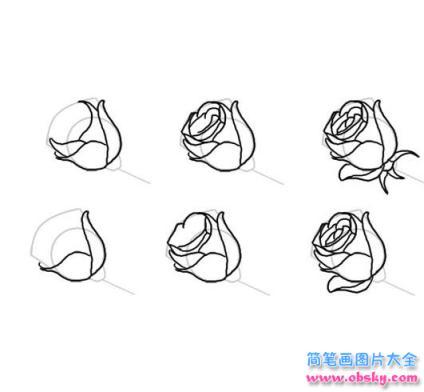 玫瑰花怎么画简笔画画法 怎么画玫瑰花 简笔画花朵 儿童简笔画