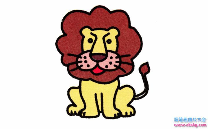 简笔画狮子的具体步骤图示