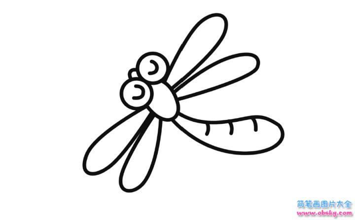 蜻蜓简笔画画法蜻蜓简笔画分步骤详解 昆虫简笔画 绘画人生
