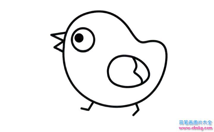 彩色小鸡简笔画画法 怎么画彩色小鸡的简笔画 简笔画大全 儿童简笔画