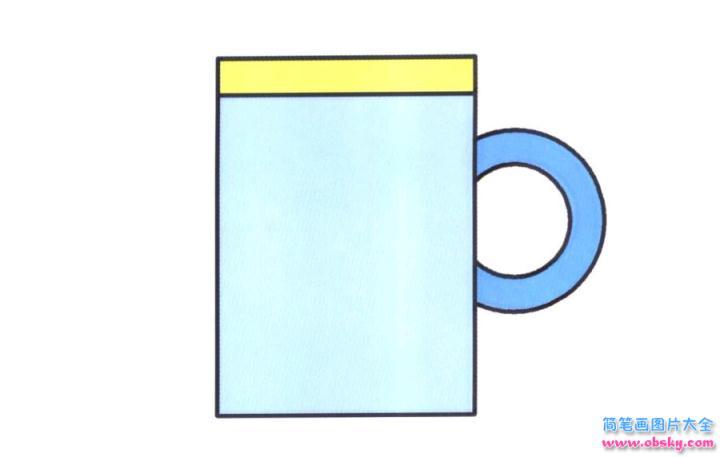 彩色简笔画杯子的图片教程