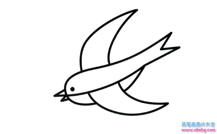 彩色简笔画燕子的图片教程