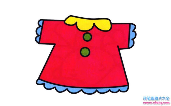 彩色漂亮的上衣简笔画画法 怎么画彩色漂亮的上衣的简笔画