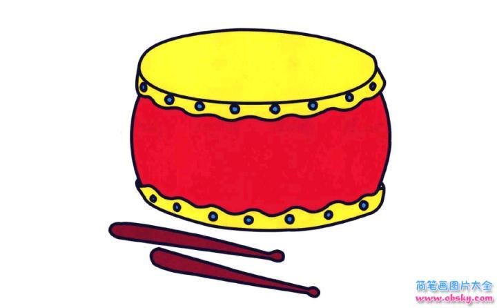 彩色简笔画鼓的图片教程