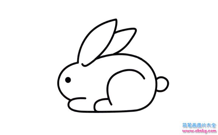 彩色兔子简笔画画法 怎么画彩色兔子的简笔画 简笔画大全 儿童简笔画