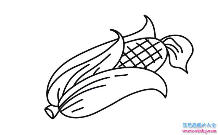 1串玉米简笔画图片_彩色玉米简笔画画法_怎么画彩色玉米的简笔画 - 简笔画大全 ...