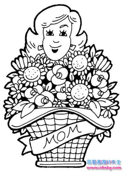 母亲节简笔画图片大全:妈妈节日快乐