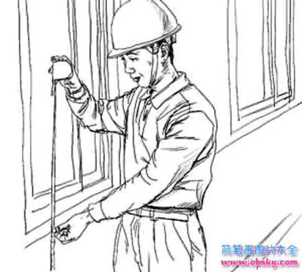 怎么画儿童五一劳动节 忙碌的工人简笔画的教程 五一劳动节简笔画 儿童