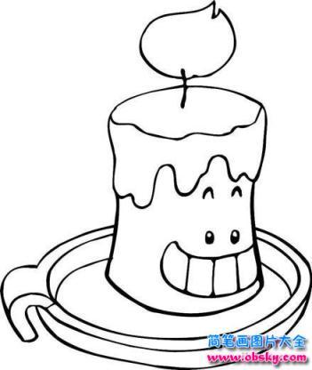 怎么画卡通蜡烛简笔画 卡通简笔画 儿童简笔画图片大全