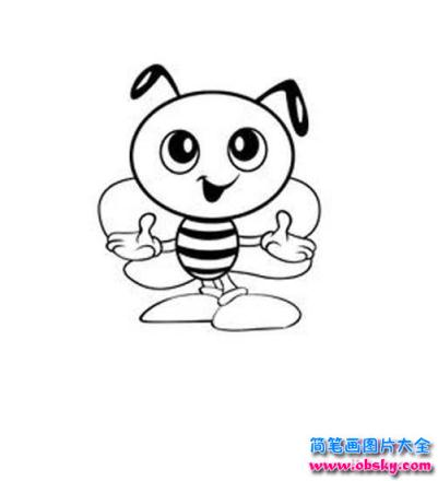 卡通蜜蜂简笔画