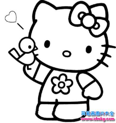 kitty猫卡通简笔画_怎么画卡通:hello kitty猫简笔画 - 卡通简笔画 - 儿童简笔画图片大全