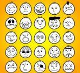 最新Q版人物表情简笔画大全