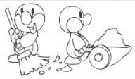 怎么画五一劳动节卡通:小鸭子做劳动简笔画的教程