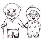 怎么画重阳节人物:我的爷爷奶奶简笔画的教程