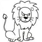 怎么画狮子凶恶的眼神表情简笔画