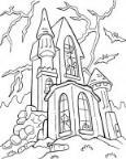 怎么画万圣节幽灵城堡简笔画的教程