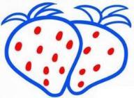 教你画彩色的草莓简笔画