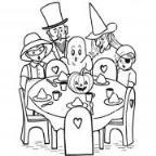 怎么画幼儿万圣节主题:一家人过万圣节简笔画的教程