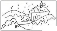 如何画风景:下雪的冬天简笔画