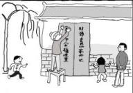 怎么画春节习俗:贴春联简笔画的教程