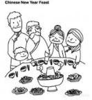 怎么画儿童春节主题:吃团圆饭简笔画的教程
