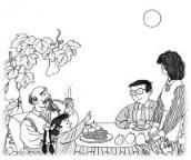 怎么画关于中秋节的:一家人团圆话中秋简笔画的教程