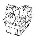 教你画篮子里的草莓简笔画