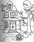怎么画儿童万圣节鬼屋简笔画的教程