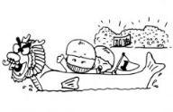 怎么画儿童端午节:龙舟赛简笔画的教程