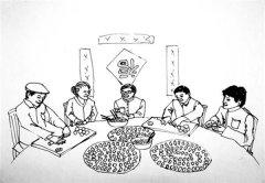 怎么画过年主题:包饺子简笔画的教程