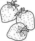 教你画三个草莓简笔画