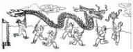 怎么画春节民间风俗:舞龙简笔画的教程