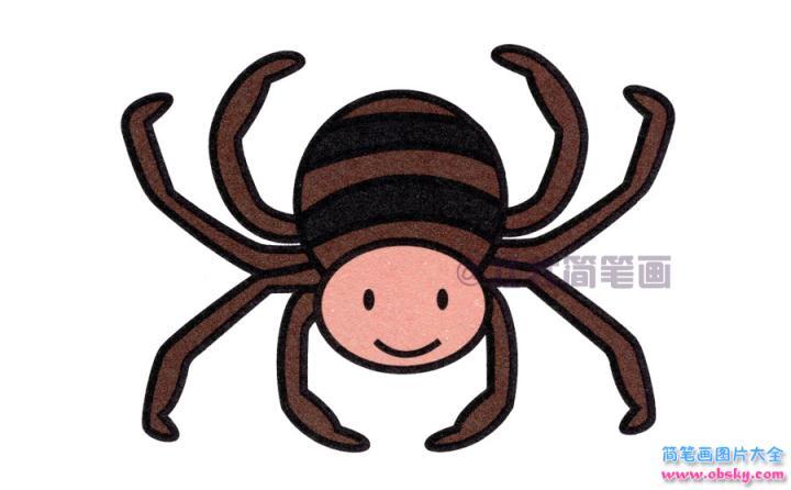 蜘蛛简笔画画法 怎么画蜘蛛的简笔画 简笔画动物 儿童简笔画图片大全