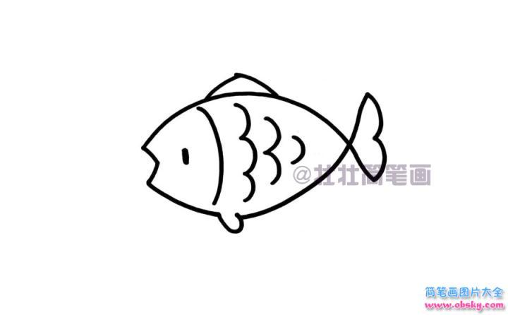 鱼简笔画画法 怎么画鱼的简笔画 简笔画动物 儿童简笔画图片大全