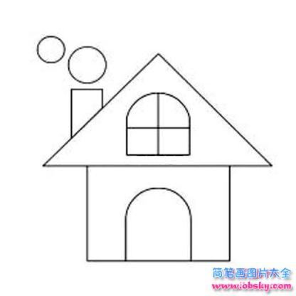 怎么画三角形房子简笔画的教程 简笔画房子 儿童简笔画图片大全