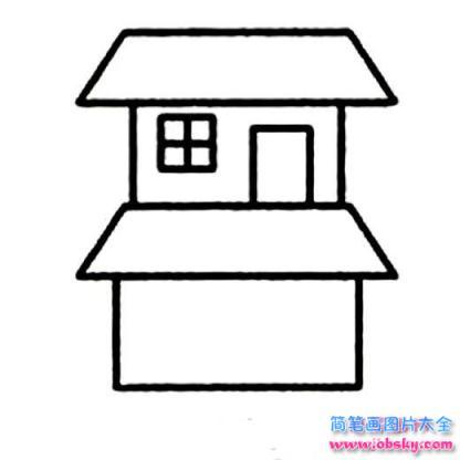 两层房子简笔画