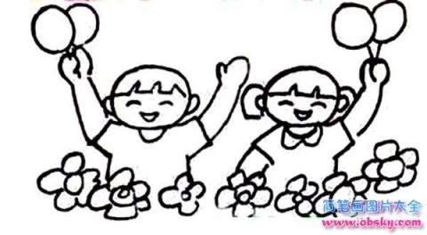 怎么画欢庆六一儿童节简笔画的教程 六一儿童节简笔画 儿童简笔画图片大全