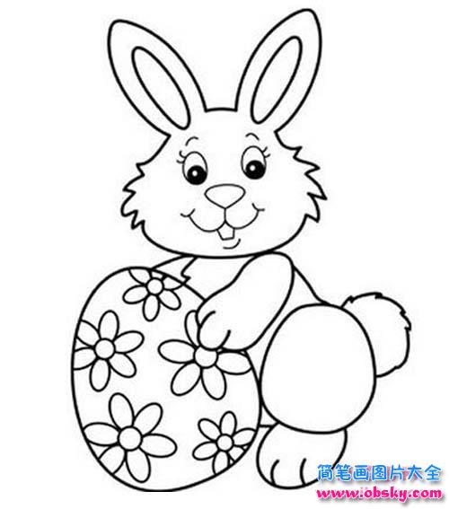 幼儿复活节兔子简笔画图片 简笔画兔子 儿童简笔画图片大全
