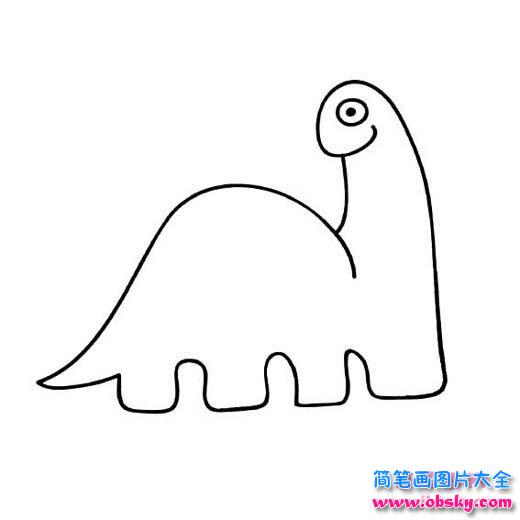 幼儿园小班恐龙简笔画