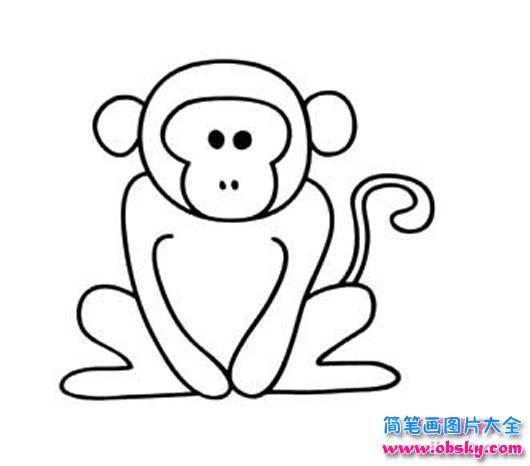 小猴子简笔画图片大全 简笔画猴子 儿童简笔画图片大全