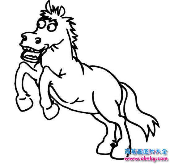 卡通简笔画图片:马