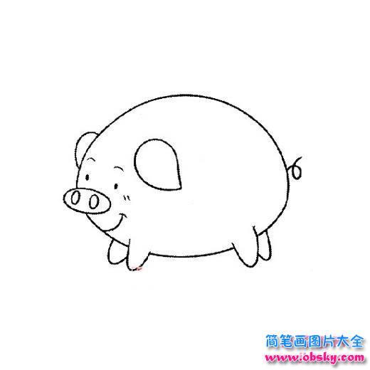 可爱的小肥猪简笔画 简笔画小猪 儿童简笔画图片大全