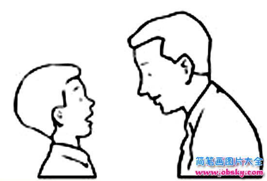 爸爸侧面简笔画图片大全 爸爸 儿童简笔画图片大全