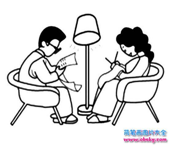 爸爸和妈妈人物画像简笔画图片大全