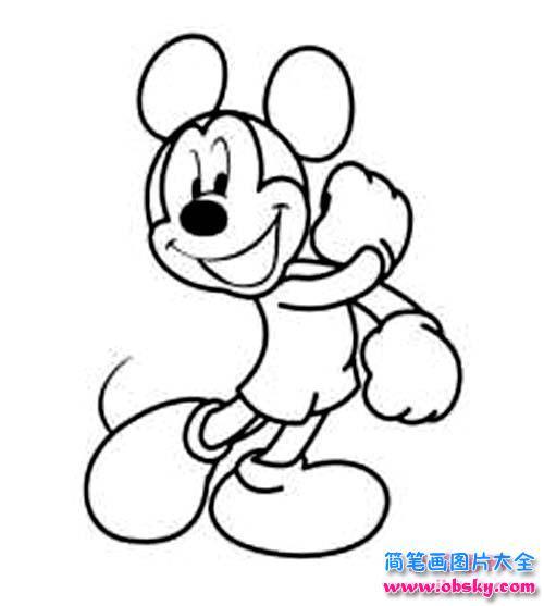少儿卡通米老鼠简笔画图片
