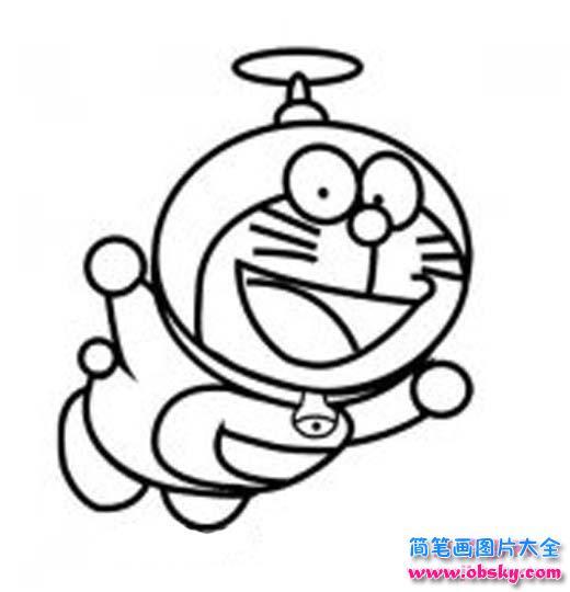 哆啦A梦机器猫简笔画 机器猫 儿童简笔画图片大全