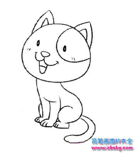 幼儿小猫简笔画 简笔画猫咪 儿童简笔画图片大全