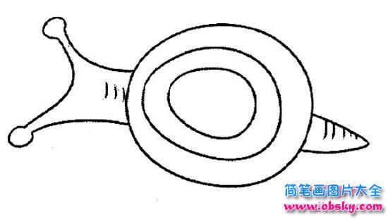 爬行的蜗牛的简笔画