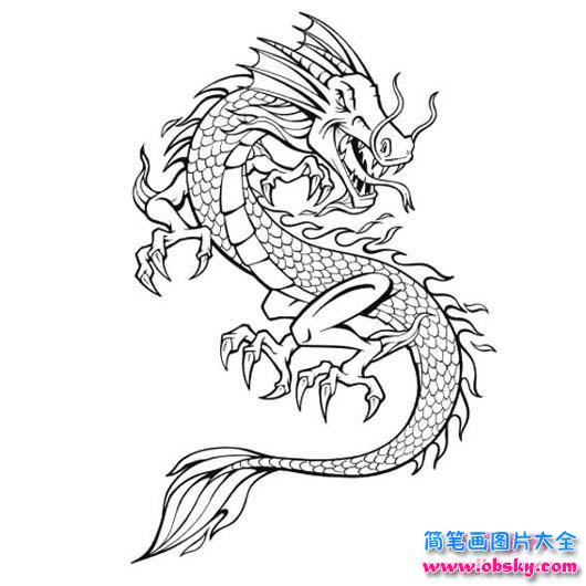中国龙简笔画大全