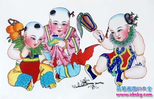 表情 中国福娃简笔画大全 福娃 儿童简笔画图片大全 表情